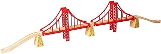 Bigjigs Rail Double Suspension Bridge - Other Major Wooden Rail Brands are Compatible