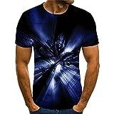 Camiseta Hombre Moderna Fresca Tecnología 3D Estampado Hombre Shirt Verano Básico Cuello Redondo Ajuste Regular Hombre Manga Corta Diario Casual All-Match Hombre Casuales Camisa TX8119 M