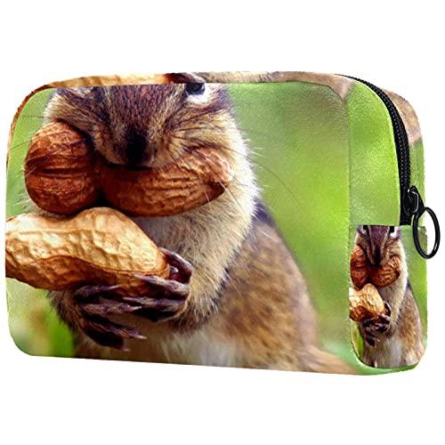 Make-up-Tasche Aufbewahrungstasche für kosmetische Toilettenartikel Tier Erdnuss für Reisen im Freien
