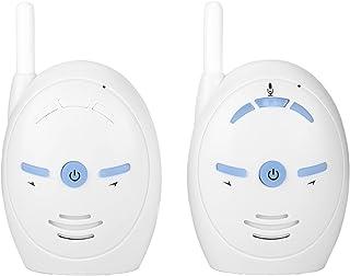 Digital ljudbabyskärm, nanny intercom-övervakningssystem säkerhetskamera, trådlöst elektroniskt larm Vitt