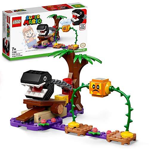 LEGO 71381 Super Mario Set de Expansión: Batalla en la Jungla contra el Chomp Cadenas, Kit de Construcción con Figura de Bramball