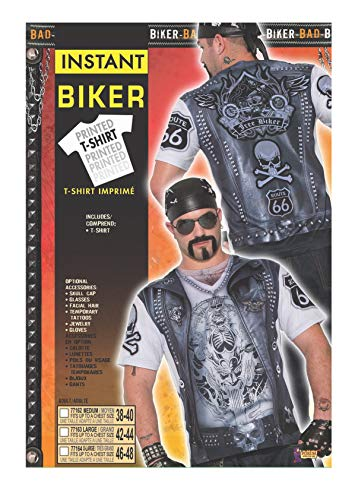 Forum Novelties 7716344-inch–Instant camiseta de estilo motorista