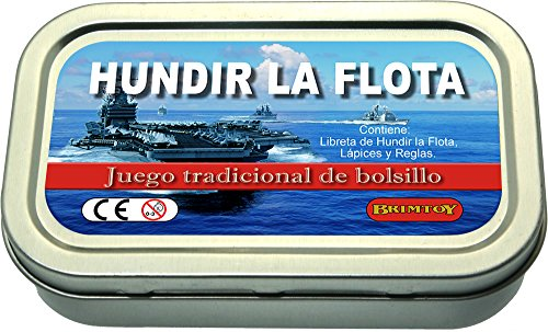 Juego de bolsillo/viaje Hundir la flota.
