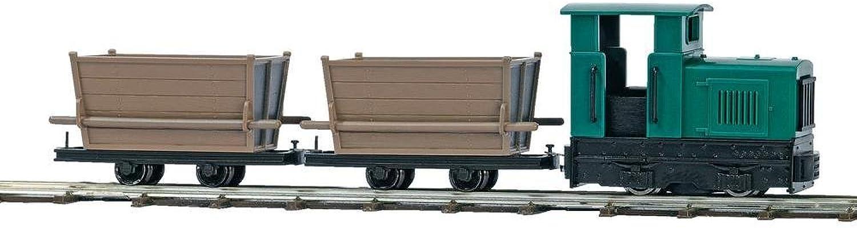 OO Narrow gauge train set with peat wagons