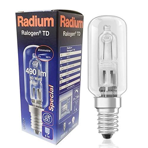 RADIUM Halogenlampe RALOGEN RJH-TD 230/C/E14 40 Watt EEK: D
