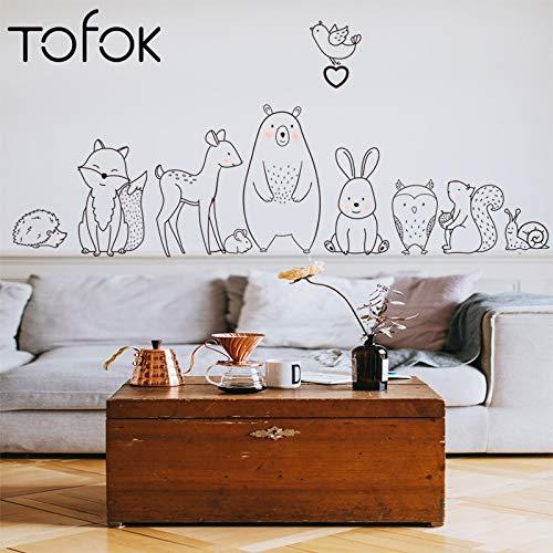 Muursticker stickers huisdecoratie behang creatieve cartoon dier baby kinderen kamer lijm