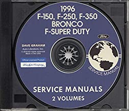 NEW 1996 FORD TRUCK & PICKUP FACTORY REPAIR SHOP & SERVICE MANUAL CD - INCLUDES Bronco, F-150, F-250, F350, F-Super Duty - COVERS Engine, Body, Chassis & Electrical. 96