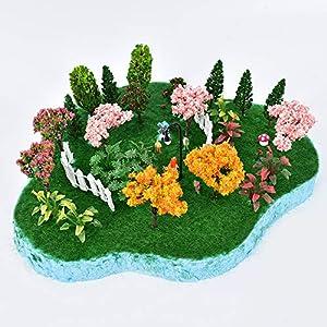 huianer miniature fairy garden tree plant ornament miniature dollhouse pots decor moss micro landscape diy craft garden ornament 12 pcs