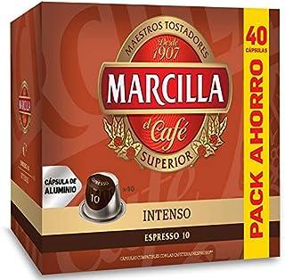 Marcilla Intenso - Capsulas Compatibles Nespresso Aluminio