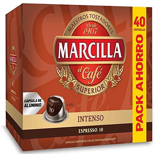 OAK 1753 B.V. Marcilla Intenso, Capsulas Compatibles Nespresso Aluminio Formato AHORRO - 40 Cafés Espresso