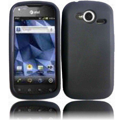 Black Silicone Jelly Skin Case Cover for Pantech Burst P9070