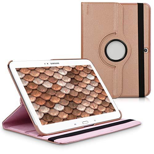 kwmobile Schutzhülle kompatibel mit Samsung Galaxy Tab 3 10.1 P5200/P5210 - Hülle 360° Tablet Cover Hülle Rosegold