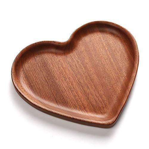 Piatto da portata in legno a forma di cuore ecologico. Realizzato in legno di sandalo naturale che è sicuro e sano, lucidare con cura ogni dettaglio. Facile da pulire, basta pulirlo con un panno umido. Ottimo per vassoi di feste natalizie e piatto da...