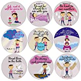 GlossTrick Christmas Bible Verse Christian Religious Stickers for Kids 200 Christmas Labels in Roll (Bulk) Catholic Love Sticker for Church and Children Sunday School about Faith Jesus Prayer