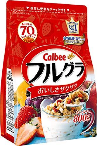 カルビー フルグラ 800g×6袋セット フルーツグラノーラ グラノーラ 穀物 シリアル ドライフルーツ 朝食 栄養 ザクザク チャック付き Calbee