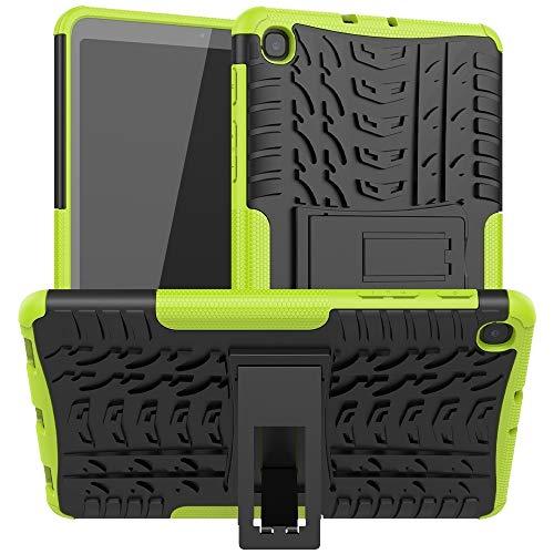 LICHONGGUI Cubierta de la Caja de la Tableta Caja Protectora de los neumáticos a Prueba de Golpes Textura de TPU PC con el sostenedor (Color : Green)