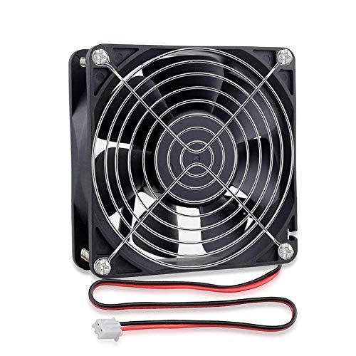 GDSTIME 120 mm x 38 mm ventilador de refrigeración DC 24 V sin escobillas industrial 2 pines PC caso refrigerador aire ventilación