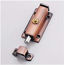 Roestvrijstalen lente kleine grendel, veiligheid deur gesp deur, kast deurslot slot-3 inch * rond * roodbruin
