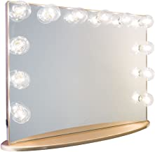 Impressions Vanity Hollywood Glow Plus Vanity Mirror with Clear, Champagne Gold