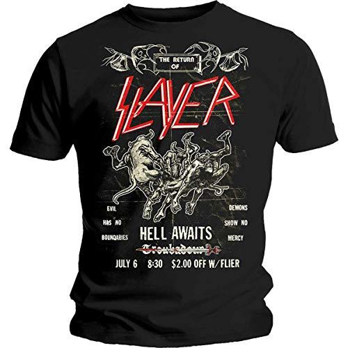 Slayer Live at Troubadour Flier Reign in Blood Oficial Camiseta para Hombre