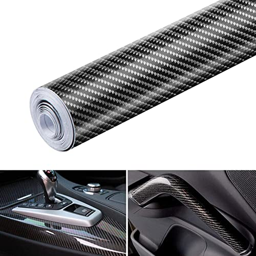Black 6D Carbon Fiber Vinyl Self Adhesive Film, Wrap Roll Without Bubble, Adapted to The Appearance...