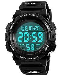cheap Waterproof children's watch for boys, black digital sports waterproof analog electronic for children …