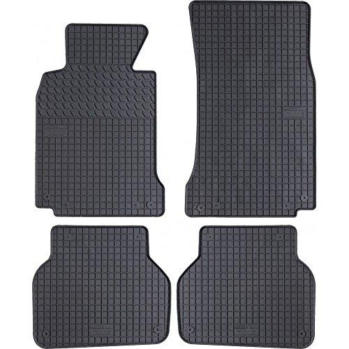 Motohobby Alfombrillas de goma para BMW E39 Auto Alfombras Auto Set 100% Ajuste + Botones de fijación