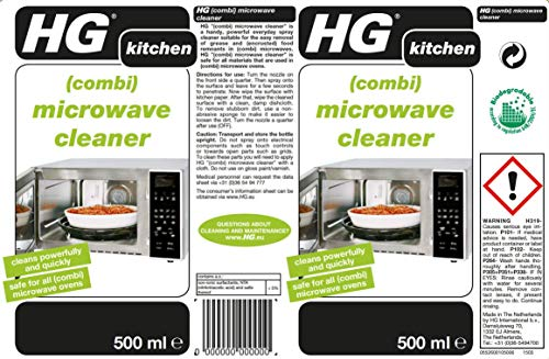 HG Combi Microwave Cleaner 500 ml – Removes Grease and Cake-on Food - for Microwaves and Combination Microwaves