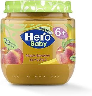 هيرو بيبي طعام اطفال خوخ وموز لعمر 6 اشهر - 1 سنة