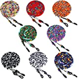 8 Pieces Eyeglass Holder Strap Eyeglass Chain Eyeglass Cord Lanyard for Women Men (Eye-catching Colors)