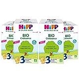 Hipp Biologique Lait 3 Croissance Bio 700 g - Lot de 4