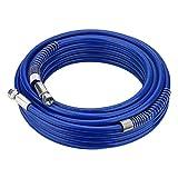 MOPEI 15M x 1/4 in. Manguera de pulverizador de pintura sin aire para Graco pulverizador 4300 PSI(Azul)