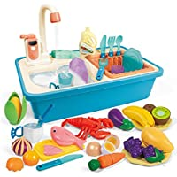 Funtok 31-Pieces Electric Automatic Water Circulation Play Sink Toys