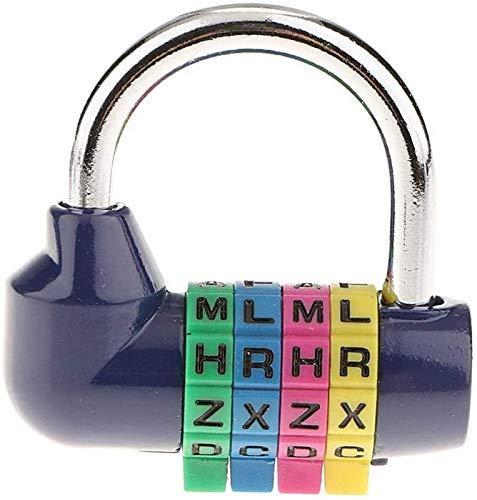 First Choice Kombinationsschloss, 4-stelliger Briefkennwort-Sicherheitsvorhängeschloss for Heimtor-Fall-Toolbox-Gym-Schule und Mitarbeiter-Schließfach Xping plm46