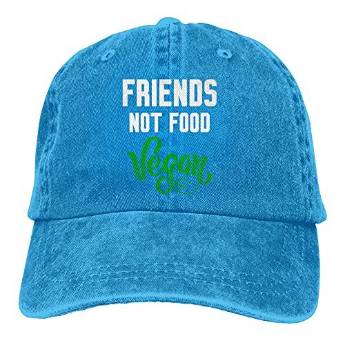 Leumius Vegan Friends Not Food-1 Sombreros, Gorra de béisbol ajustable para hombres y mujeres, lavable de...