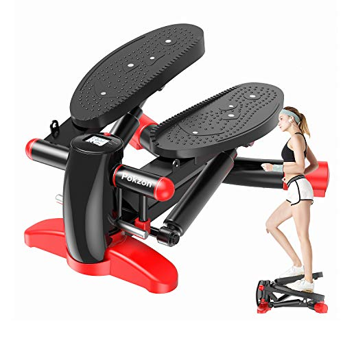 Pokzon Stepper Stepper Fitness,Stepper up-Down Fitness Mini Stepper Fitness Display Multifunzione, Hometrainer Stepper con Resistenza Regolabile e Training Computer