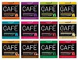 Viaggio Espresso Cápsulas de café compatibles con máquinas Nespresso Mix colección (120 Cápsulas)