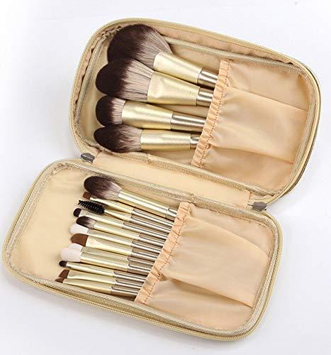 Lot de 16 pinceaux de maquillage à poils souples Kabuki Fond de teint Poudre Fard à paupières Eyeliner Rouge Correcteur Pinceau avec sac de maquillage de voyage