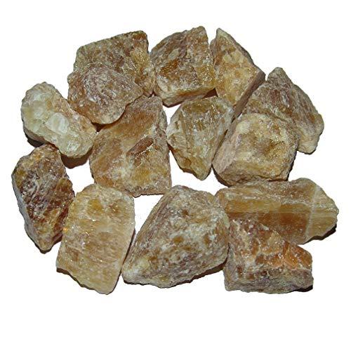 Mineralien Wassersteine je 100 Gramm verschiedene Größen und viele Steinarten Steinsorten wählbar (Honigcalcit)