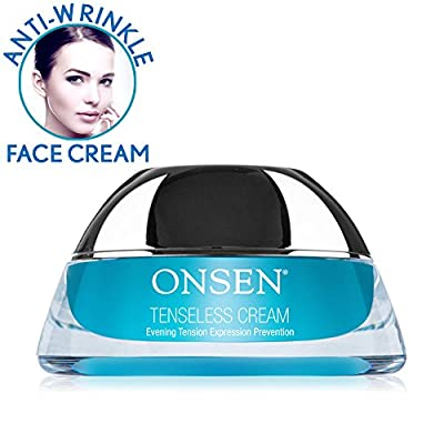 Onsen Anti Aging Tenseless Face Cream – Recommended by Dermatologist – Anti Wrinkle Ulta Boost Facial Creme for Dry Skin, Age Spots, and Wrinkle Repair 1.7 oz. (50 mL) from Onsen