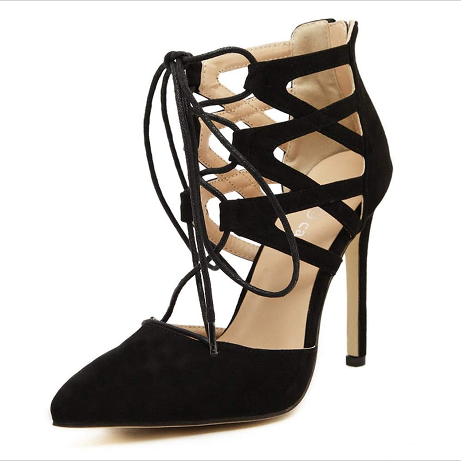 Bvilage  Hollow Strappy High-Heeled Sandals Women's Open Toe High Heeled