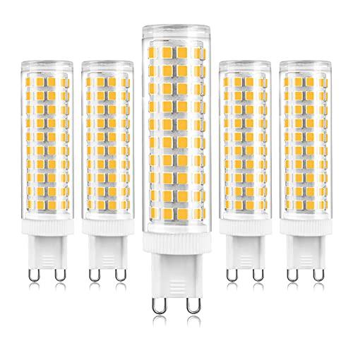 Lampadine G9 LED 12W Equivalente a G9 120W Lampada Alogena, Bianco Naturale 4000K, G9 Risparmio Energetico Lampadine, 1200LM, Angolo di visione 360°, Non-dimmerabile, 5PCS
