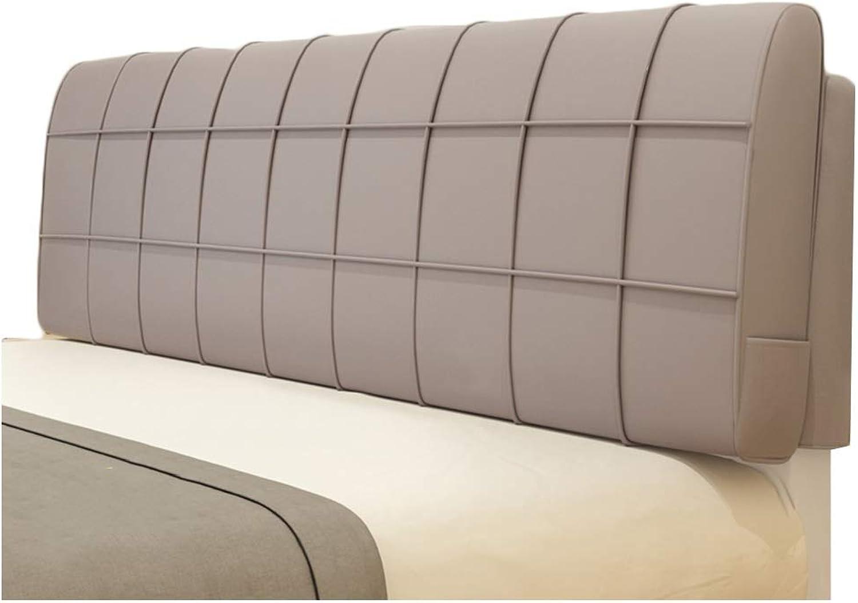 WENZHE Upholstered Headboard Pillow Bedside Cushion Wedges Backrest Waist Pad Waist Belt Cloth Soft Case Home Bedroom Anti-Collision Head Backrest Washable, 5 colors (color   C, Size   90X58cm)
