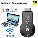 AnyCast Wireless WiFi Dongle Receiver 4K&1080P Wireless HDMI Display Adapter iPhone Ipad Miracast Dongle for TV Upgraded Toneseas Streaming Receiver MacBook Laptop Samsung Android Phones Business