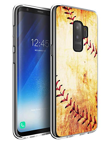 Baseball Case for Samsung S9 Plus Cases Baseball,Jolook 360 Full Body Slim TPU Protection Case with Baseball Design for Samsung Galaxy S9 Plus - Baseball Vintage Retro