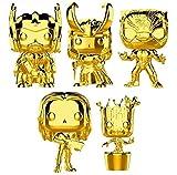 Funko Pop! Marvel: Marvel Studio 10 Gold Chrome Vinyl Figure Collection #2, 3.75' (Set of 5)