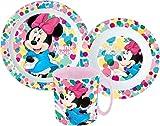 Minnie Kinder-Geschirr Set mit Teller, Müslischale und Tasse