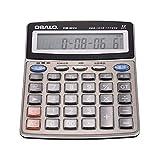 calculadora de escritorio eléctrica,Entweg OS-801CK Calculadora electrónica de escritorio musical multifunción Contador LCD de 12 dígitos con reloj despertador Calendario Funciones de lectura