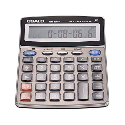 calculadora de escritorio eléctrica,Entweg OS-801CK Calculadora electrónica de escritorio musical multifunción Contador...