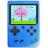 TTSAM Handheld Games Console for Kids Adults Retro FC Video Games Consoles 3 inch Screen 400 Classic Games Player (Blue-New)